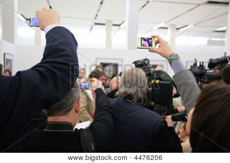 People On Interview From Back