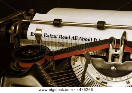 Typewriter Banner