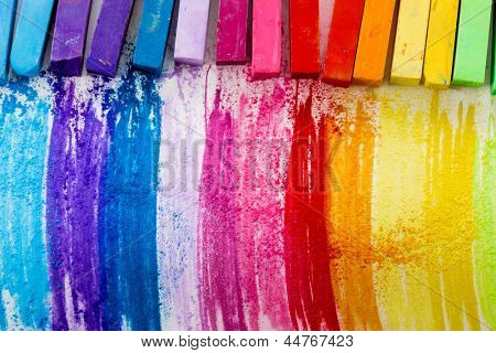Colorful chalk pastels - education, arts,creative, back to school