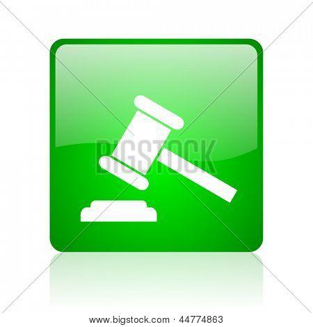 law green square web glossy icon