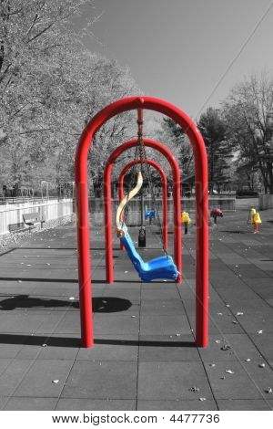 Colorful Swingset