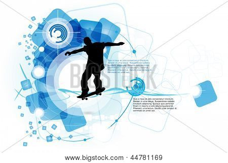 Skateboarder. Vector