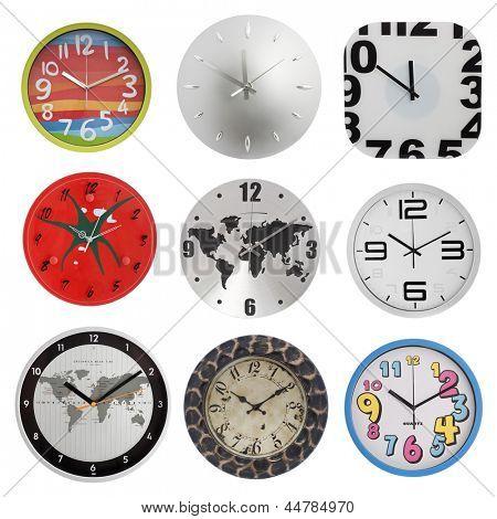 nine clocks