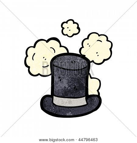 dusty old top hat cartoon