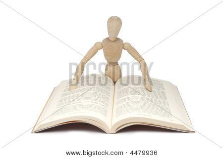 Wodden Man Reading