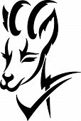 Tribal Deer vector illustration great for vehicle graphics stickers and T-shirt designs. Ready for vinyl cutting. poster