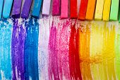 Colorful chalk pastels - education, arts,creative, back to school poster