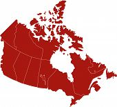 There is a map of Canada country poster