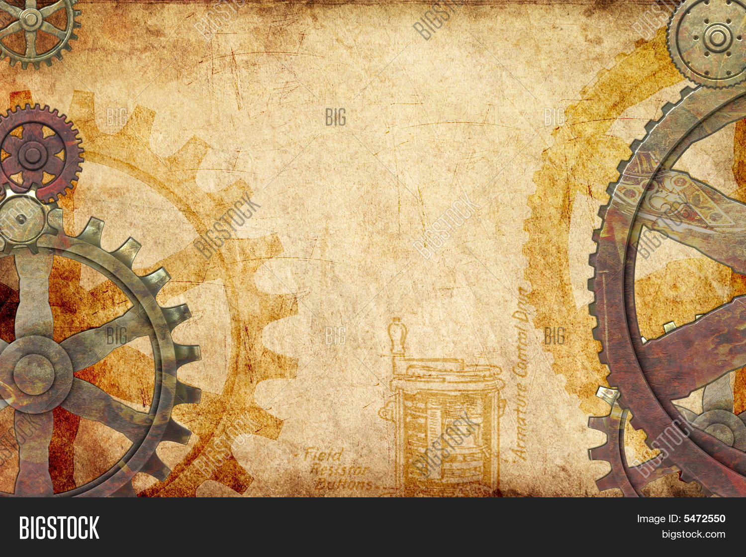 steampunk background image photo free trial bigstock