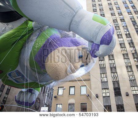 Buzz Lightyear balloon on 6th Avenue