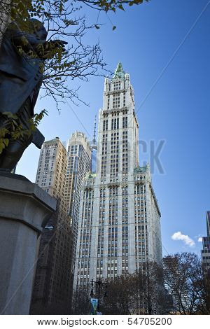 New York City, November 19, 2013: Woolworth Building