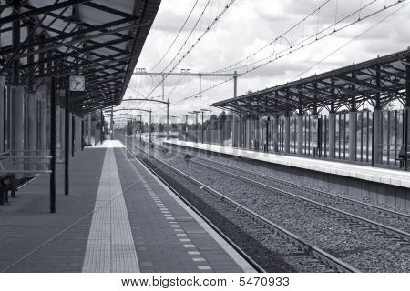 Railway Station (Monochrome)