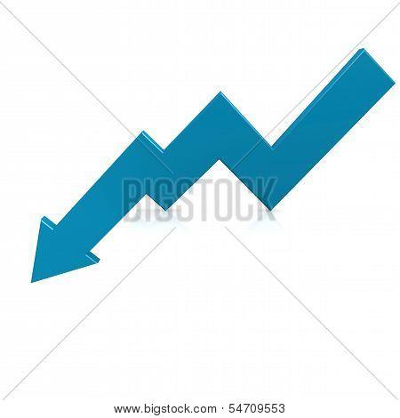 Crisis arrow blue