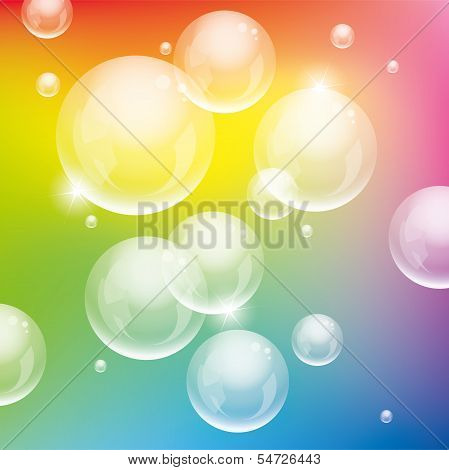 Vector Colorful Bubbles