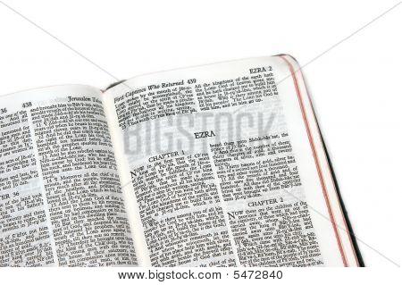 Bible Open To Ezra