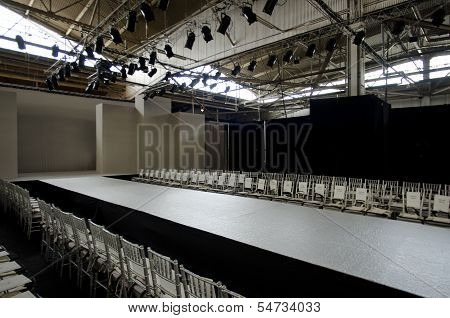 NEW YORK- OCTOBER 16: Empty runway for Claire Pettibone bridal show for Fall 2013