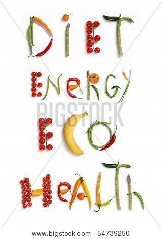 Diet, energy, eco, health