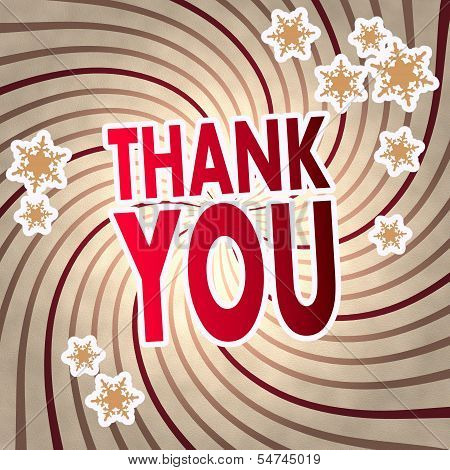 Red Vintage Wooden Thank You Symbol