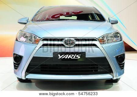 Bkk - Nov 28: New Toyota Yaris On Display At Thailand International Motor Expo 2013 On Nov 28, 2013