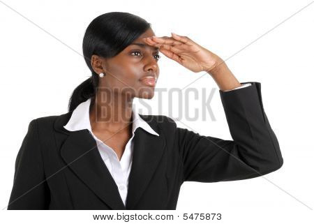 Busienss Woman Looking Away With Business Vision