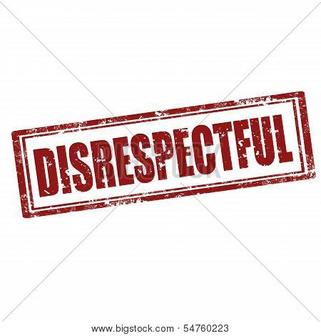 Disrespectful-stamp