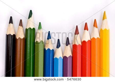 Eine Reihe von bunte Bleistifte