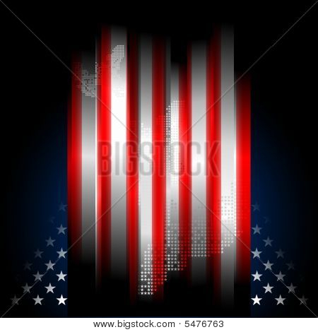 Stars And Stripes American Flag, Illustration