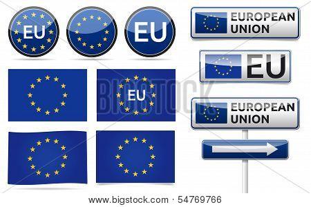 European Eu Flag Collection