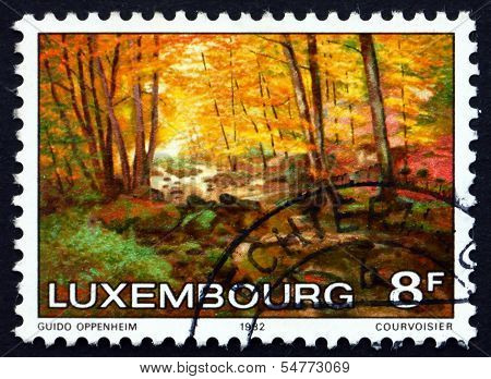 Postage Stamp Luxembourg 1982 The Larger Hallerbach, By Guido Op
