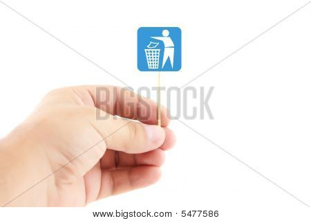 Hand Holding Sign