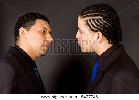 Two Man In A Non-verbal Twist