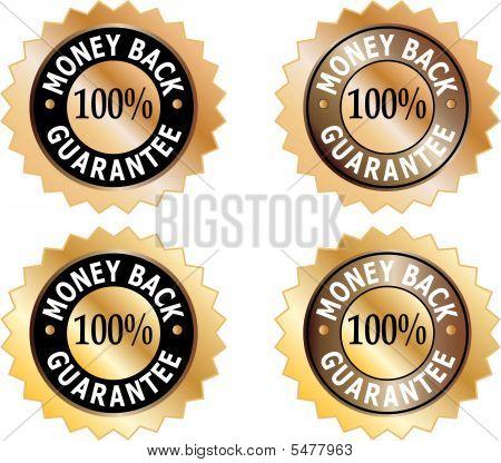Money Back Guarantee Commerce Signs