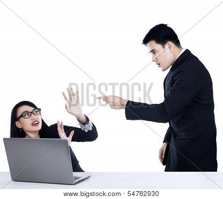 Manager Shouting At His Office Worker