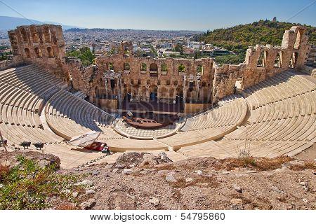ancient theatre under Acropolis of Athens