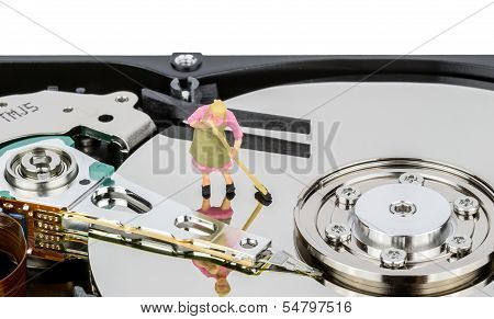 Cleaning Computer Hard Drive