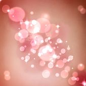 Shiny Pink abstract romantic background with stars poster