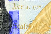 July 4th, 1776 - US Currency One Hundred Dollar Bill poster
