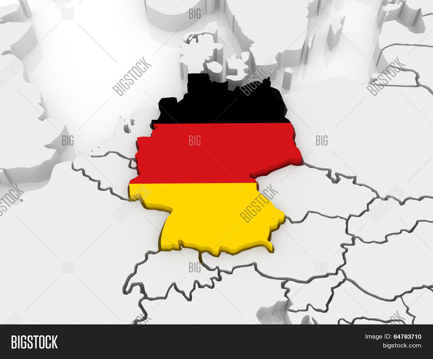 Map Of Germany 3d.Map Europe Germany 3d Image Photo Free Trial Bigstock