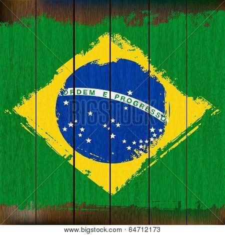 Grunged Brazilian Flag