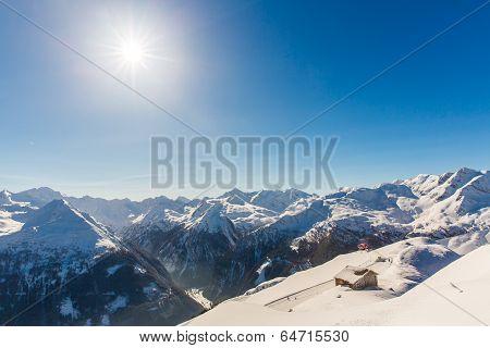 Ski Resort Bad Gastein In Winter Snowy Mountains, Austria, Land Salzburg,  Austrian Alps - Nature An