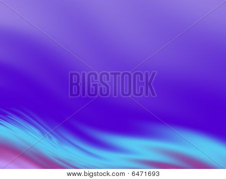 Abstract Wavy Background in Violet and Turquoise