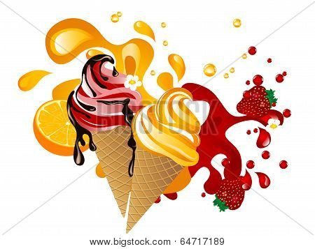 Ice Cream With Fruit