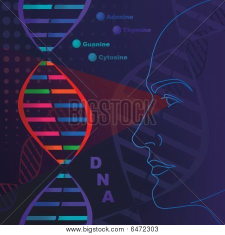 DNA genetic researches, test