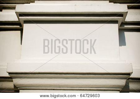 Blank White Concrete Wall