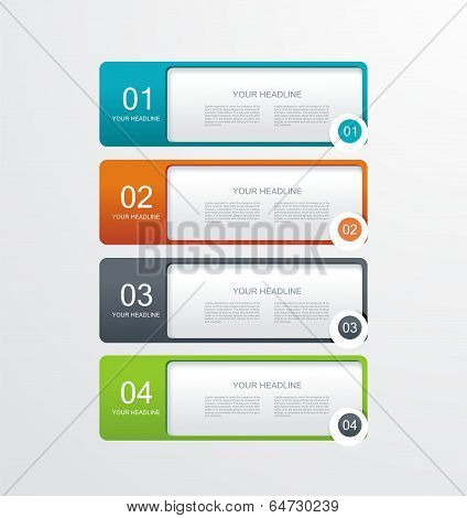 Paper Numbered Banners .trendy Design Template