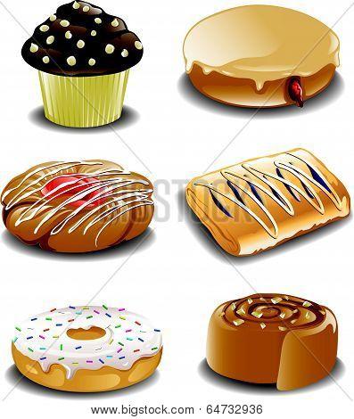 Assorted breakfast sweets