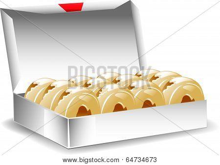 Box glazed donuts