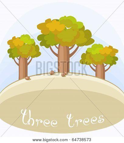 Three Bottle Trees