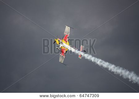 Riga, Latvia - August 20: Pilot Martin Šonka The Winner Of The 2011 Riga Fai Elite Aerobatic Formula