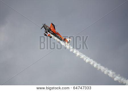 Riga, Latvia - August 20: Pilot From France Nicolas Ivanoff Participates In Riga Fai Elite Aerobatic